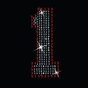 広島カープ ワッペン ラインストーン 1 (RS-0002) カープユニフォーム CARP 広島東洋カープ カープ女子 応援歌 刺繍 メール便 アイロン uneemb-store