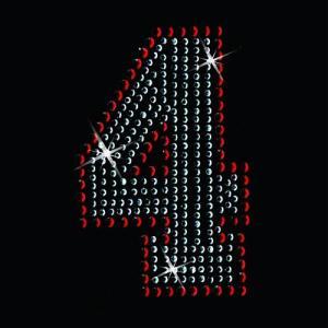 広島カープ ワッペン ラインストーン 4 (RS-0005) カープユニフォーム CARP 広島東洋カープ カープ女子 応援歌 刺繍 メール便 アイロン uneemb-store