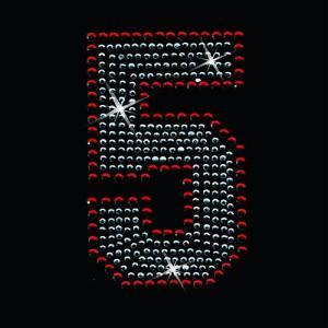広島カープ ワッペン ラインストーン 5 (RS-0006) カープユニフォーム CARP 広島東洋カープ カープ女子 応援歌 刺繍 メール便 アイロン uneemb-store