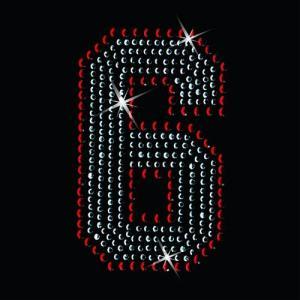 広島カープ ワッペン ラインストーン 6 (RS-0007) カープユニフォーム CARP 広島東洋カープ カープ女子 応援歌 刺繍 メール便 アイロン uneemb-store