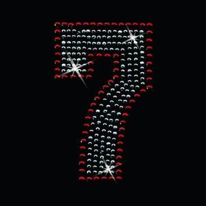 広島カープ ワッペン ラインストーン 7 (RS-0008) カープユニフォーム CARP 広島東洋カープ カープ女子 応援歌/刺繍 メール便 アイロン uneemb-store