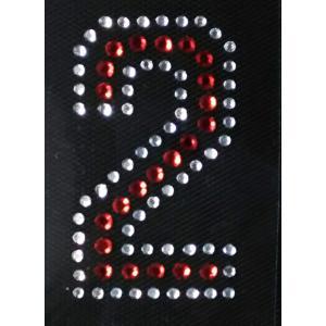 広島カープ ワッペン ラインストーン 2 (RS-0014) カープユニフォーム CARP 広島東洋カープ カープ女子 応援歌 刺繍 メール便 アイロン uneemb-store