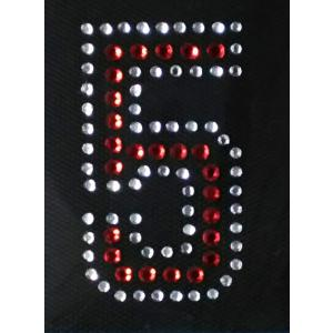広島カープ ワッペン ラインストーン 5 (RS-0017) カープユニフォーム CARP 広島東洋カープ カープ女子 応援歌 刺繍 メール便 アイロン uneemb-store