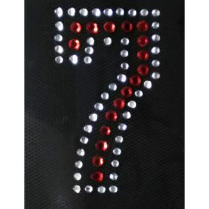 広島カープ ワッペン ラインストーン 7 (RS-0019) カープユニフォーム CARP 広島東洋カープ カープ女子 応援歌 刺繍 メール便 アイロン uneemb-store