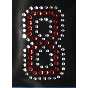 広島カープ ワッペン ラインストーン 8 (RS-0020) カープユニフォーム CARP 広島東洋カープ カープ女子 応援歌 刺繍 メール便 アイロン uneemb-store