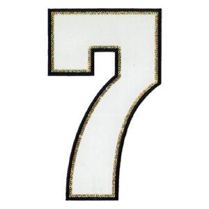広島カープ 刺繍ワッペン スパンコール 背番号 7 白 (S-0006) カープユニフォーム CARP 広島東洋カープ カープ女子 刺繍 メール便 アイロン|uneemb-store