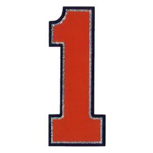 広島カープ 刺繍ワッペン スパンコール 背番号 1 赤 (S-0017) カープユニフォーム CARP 広島東洋カープ カープ女子 刺繍 メール便 アイロン|uneemb-store