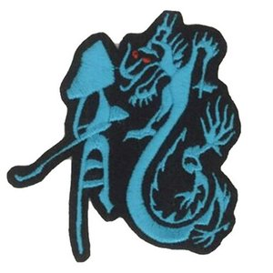 中日ドラゴンズ 刺繍ワッペン 中日ドラゴンズ 龍文字 (SO-0008) ドラゴンズユニフォーム DRAGONS ドラジョ 応援歌 刺繍 メール便 アイロン|uneemb-store