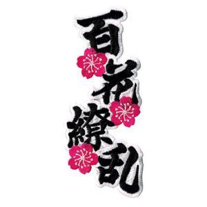 広島カープ 刺繍ワッペン 百花繚乱 (SO-0011) カープユニフォーム CARP 広島東洋カープ カープ女子 応援歌 刺繍 メール便 アイロン|uneemb-store