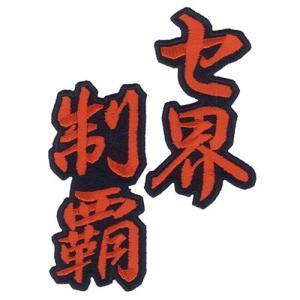 広島カープ 刺繍ワッペン セ界制覇 (SO-0012) カープユニフォーム CARP 広島東洋カープ カープ女子 応援歌 刺繍 メール便 アイロン|uneemb-store