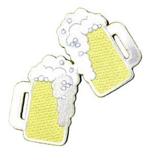 広島カープ 刺繍ワッペン ビールで乾杯 (SO-0017) カープユニフォーム CARP 広島東洋カープ カープ女子 応援歌 刺繍 メール便 アイロン接着|uneemb-store