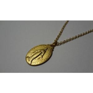 パリ 奇跡のメダイ 不思議のメダイ ネックレス 金 Msize 45cmチェーン付|uneperle