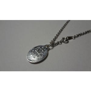 パリ 奇跡のメダイ 不思議のメダイ ネックレス 青銀 Msize 45cmチェーン付|uneperle|02