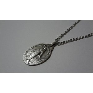 パリ 奇跡のメダイ 不思議のメダイ ネックレス 銀 Msize 50cmチェーン付|uneperle