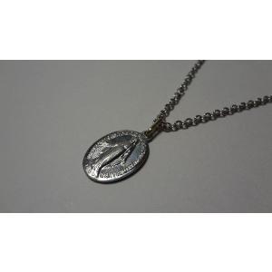 パリ 奇跡のメダイ 不思議のメダイ ネックレス 銀アルミ製 Ssize 40cmチェーン付|uneperle