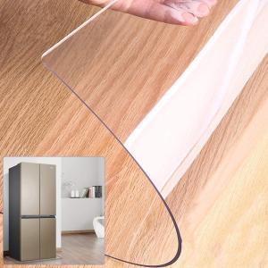 送料無料 冷蔵庫 マット キズ防止 凹み防止 床保護シート 洗濯機にも 地震対策 クラス 無色 半透明 厚さ2mm 75*90cm