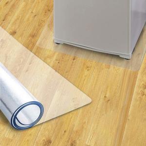 送料無料 冷蔵庫 マット キズ防止 凹み防止 床保護シート 洗濯機にも 地震対策 クラス 無色 厚さ1.5mm 65*70cm/70*75cm