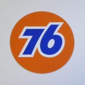 76 ステッカー(76オレンジボールM)|uni76