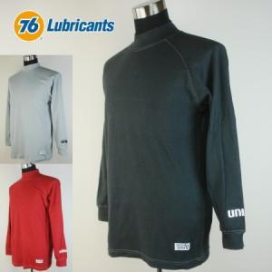 76 コットン ハイネック長袖Tシャツ1610|uni76
