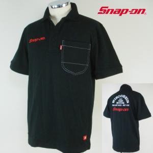 Snap-on 本刺繍半袖ポロシャツ1604|uni76