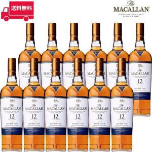 【正規品】ザ・マッカラン ダブルカスク12年/The Macallan Double Cask ビン・瓶 スコットランド  700ml 40.0% スコッチウイスキー ハイボールにおすすめ 12本…|unibiswine