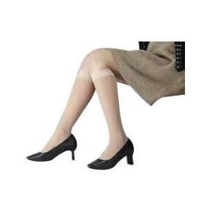 [メール便で送料180円] 医療用弾性ストッキング レックスフィット 薄手ハイソックス 爪先なし 弱圧 LLサイズ [ブラック1034]|uniclass-i