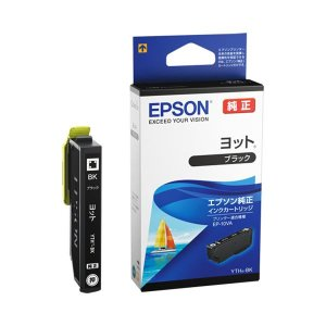 (まとめ)エプソン インクカートリッジ ヨットブラック YTH-BK 1個 〔×5セット〕 uniclass-i