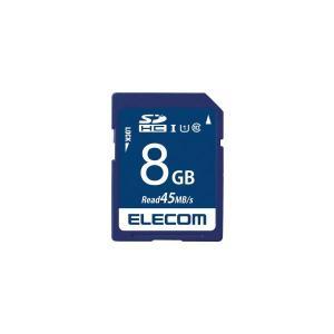 (まとめ)エレコム SDHCメモリカード 8GB MF-FS008GU11R〔×30セット〕