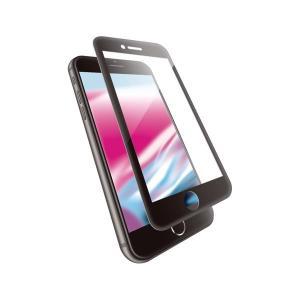 エレコム iPhone 8/フルカバーガラス/セラミックコート/ブラック PM-A17MFLGGCR...