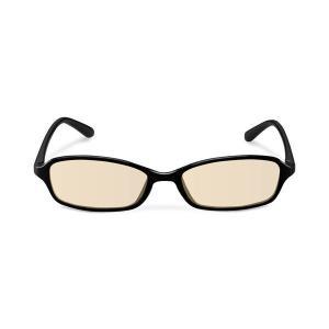 エレコム ブルーライトカット眼鏡/ブラウンレンズ/スクエアフレーム/ブラック G-BUB-S02BK|uniclass-i
