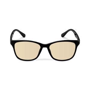 エレコム ブルーライトカット眼鏡/ブラウンレンズ/ウェリントンフレーム/ブラック G-BUB-W02...