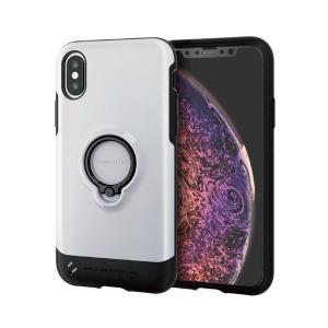 エレコム iPhone XS/TOUGH SLIM/リング付/ホワイト PM-A18BTSRWH