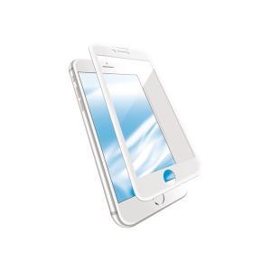 エレコム iPhone 8/フルカバーガラス/セラミックコート/フレーム付き/ブルーライトカット/ホ...
