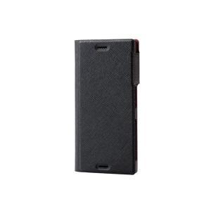 エレコム Xperia(TM) XZs用ソフトレザーカバー/薄型イタリアン(CORONET) ブラッ...