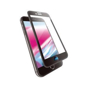 エレコム iPhone 8/フルカバーガラス/セラミックコート/フレーム付き/ブラック PM-A17...