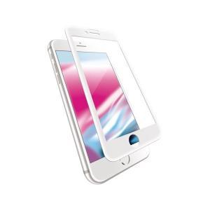 エレコム iPhone 8/フルカバーガラス/セラミックコート/フレーム付き/ホワイト PM-A17...