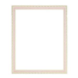 デコレーション柄 額縁/フレーム 〔OA-A4 ピンク〕紐用金具付き 木製