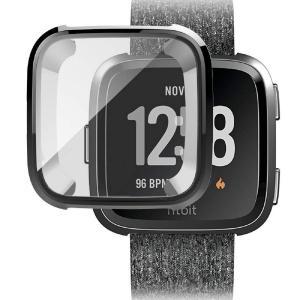 QULLOO Fitbit Versa 2 カバー ケース 全面 保護 フィルム TPU メッキ 脱着簡単 柔軟 スクリーン 脱着簡単 耐衝 unicorn802