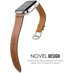 Vermon アップルウォッチ バンド 本革 シンプルトゥール デザイン Series 4/3/2/...