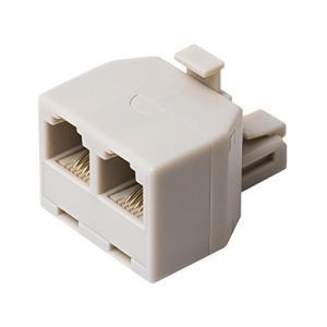 ミヨシ MCO 分配アダプタ 6極4芯 回線用 白 DA-42/WH DA-42/WH|unicorn802