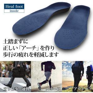 Heal foot インソール 人体工学に基づいた3Dアーチサポートインソール (L)