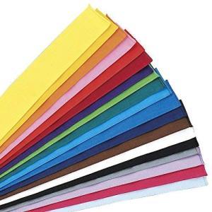 運動会カラーハチマキ 全19色(木綿 サイズ4×120cm 日本製) 10水色 unicorn802