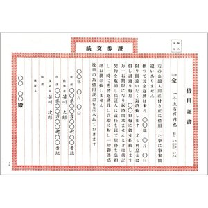 タカ印 証書 9-200 証券文紙 借用証書 仙貨紙 270×390mm|unicorn802