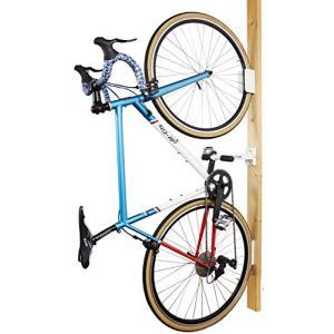 サイクルロッカー(CycleLocker) 壁掛け縦置き自転車スタンドハンガー「クランクストッパーウォールCSW-01」 (WHITE)|unicorn802