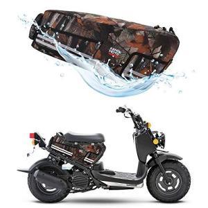 kemimoto ズーマー シートバッグ 撥水 収納 ズーマーRuckus NPS50 サドルバッグ リアボックス zoomer 迷彩 23|unicorn802
