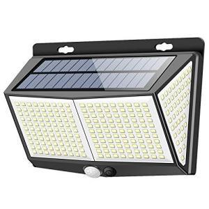 最新版288LEDセンサーライト ソーラーライト 3つ知能モード Focondot 4面発光 人感センサー 屋外照明 太陽光発電 省エネ 防|unicorn802
