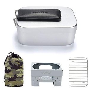 MiliCamp ラージメスティン アルミ飯盒 キャンプ炊飯 山飯 アウトドア 調理器具 バリ取り不要 MR-750|unicorn802