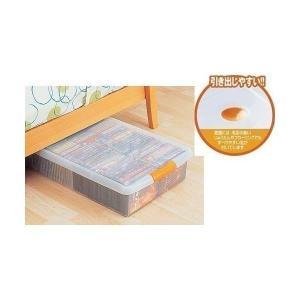 高さのないスペースでの小物収納に便利な薄型の収納ボックスです!ソファーの下や押入れ等にも使用できるサ...