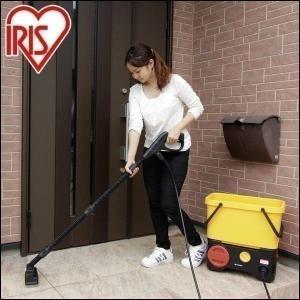 高圧洗浄機 アイリスオーヤマ 家庭用 掃除 スチーム 蒸気 外壁  充電 デッキブラシセット SDT-L01V|unidy-y