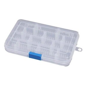 小物収納に便利な、中身の見えるプラスチックケース! 小物や文具用品等をすっきり収納できます。 固定の...